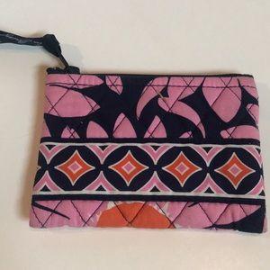 Vera Bradley Navy & Pink floral Coin purse